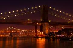 Pontes de Manhattan e de Brooklyn Imagem de Stock Royalty Free