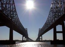 Pontes de Nova Orleães Fotografia de Stock Royalty Free