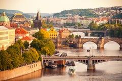 Pontes de Praga Imagem de Stock Royalty Free