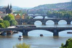 Pontes de Praga imagem de stock