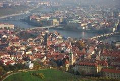 Pontes de Praga em Vltava Fotografia de Stock