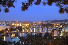 Pontes do rio de Vltava em Praga. Imagens de Stock Royalty Free