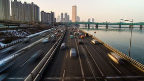 Pontes do yoido da cidade de Seoul vídeos de arquivo
