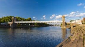 Pontes e reflexões de Trent do rio em Nottingham fotos de stock royalty free