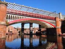 Pontes em Castlefield, Manchester Reino Unido imagens de stock royalty free