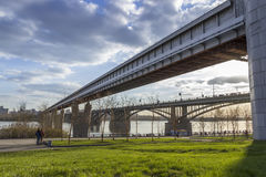 Pontes em Novosibirsk Imagem de Stock Royalty Free