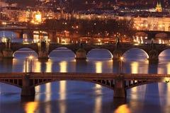 Pontes em Praga Imagens de Stock