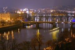 Pontes em Praga Fotografia de Stock
