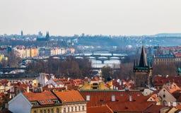 Pontes em Praga, república checa Foto de Stock