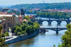 Pontes em Praga, república checa Fotografia de Stock