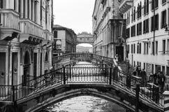 Pontes em Veneza de Itália Fotos de Stock Royalty Free