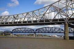 Pontes entre Kentucky e Indiana Fotografia de Stock Royalty Free