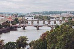 Pontes, outono em Praga, República Checa Imagem de Stock Royalty Free
