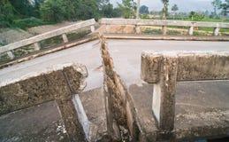 Pontes quebradas Foto de Stock