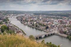 Pontes sobre o Meuse em Namur imagens de stock
