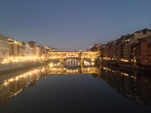 Pontes Vecchio in Florence Stock Afbeelding