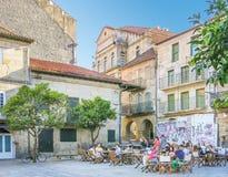 Pontevedra ένα θερινό απόγευμα, Γαλικία, βόρεια Ισπανία, Στοκ φωτογραφίες με δικαίωμα ελεύθερης χρήσης