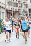 Detail of the participants of the half Marathon city of Pontevedra royalty free stock photos
