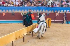 Pontevedra, Spain - September 3, 2016: Festival of medieval knights tournament Royalty Free Stock Image