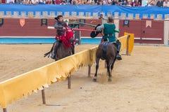 Pontevedra, Spain - September 3, 2016: Festival of medieval knights tournament Stock Photos