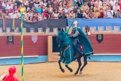 Pontevedra, Spain - September 3, 2016: Festival of medieval knights tournament Royalty Free Stock Photo