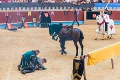 Pontevedra, Spain - September 3, 2016: Festival of medieval knights tournament Stock Photo