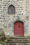 Pontgibaud castle door Royalty Free Stock Images