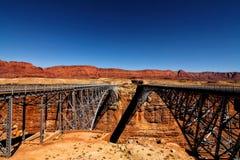 Ponti al deserto Immagine Stock Libera da Diritti
