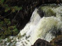 Ponti bianchi della cascata in Carelia Immagine Stock Libera da Diritti