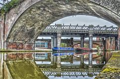 Ponti a Castlefield, Manchester immagine stock libera da diritti
