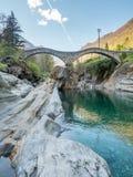 Ponti Dei Salti In Switzerland Stock Images