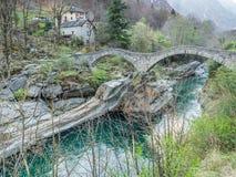 Ponti dei salti in Switzerland Stock Photography