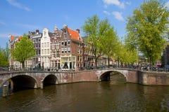 Ponti dell'anello del canale, Amsterdam Immagine Stock