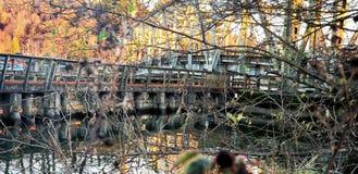 Ponti della contea di Grays Harbor Immagine Stock