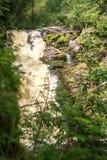 Ponti di bianco della cascata La Repubblica di Carelia Fotografie Stock Libere da Diritti