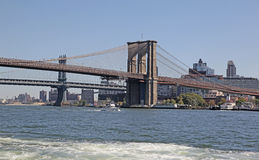 Ponti di Manhattan e di Brooklyn, NYC Fotografie Stock