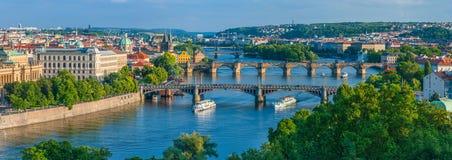 Ponti di Praga Immagine Stock