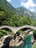 Ponti di Salti Valle Versazca Suiza Fotos de archivo libres de regalías