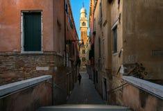 Ponti e canali di Venezia L'Italia Fotografia Stock Libera da Diritti