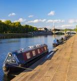Ponti e riflessioni di Trent del fiume a Nottingham immagini stock libere da diritti
