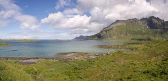 Ponti a Fredvang in Lofoten Norvegia Fotografie Stock