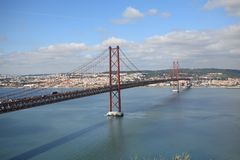 Ponti a Lisbona Fotografia Stock