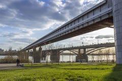 Ponti a Novosibirsk immagine stock libera da diritti