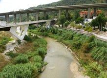 Ponti sopra il fiume Anoia Fotografie Stock Libere da Diritti