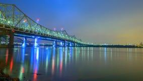 Ponti sopra il fiume Ohio Fotografia Stock