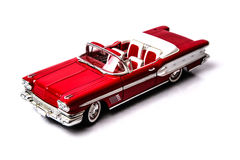 1958 Pontiac Bonneville Convertible top front angle Stock Image