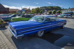 1960 Pontiac Bonneville 2 Deurhardtop Stock Fotografie