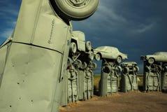 Pontiac Bonneville på Carhenge, Alliance, NE Royaltyfri Bild