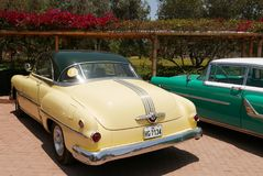 Pontiac Catalina kupé som 1953 ställs ut i Lima Arkivbilder