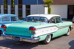 1958 Pontiac Chieftain. DEN BOSCH, THE NETHERLANDS - MAY 10, 2015: 1958 Pontiac Chieftain on the parking lot at the Rock Around The Jukebox event stock photography